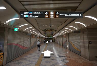 JR難波駅までの道順